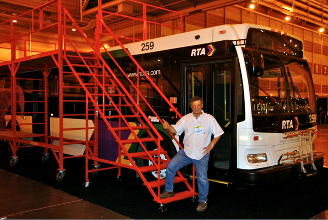 Bus Rooftop Maintenance Scaffolds