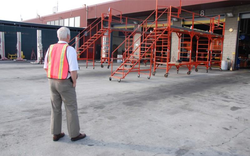 General Steel Products   Rolling Indoor Scaffolds   Work Platforms