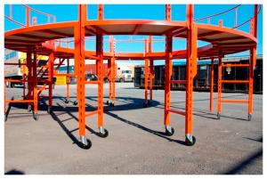 Custom mobile scaffold bridges